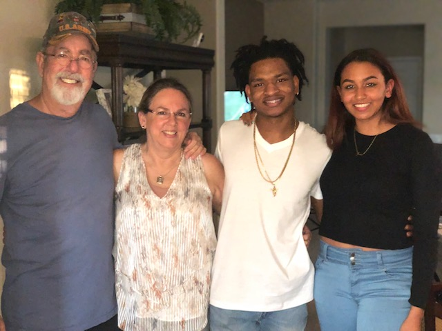 Lonnie Dench, Wanda Dench, Jamal Hinton and Hinton's girlfriend, Mikaela Grubbs