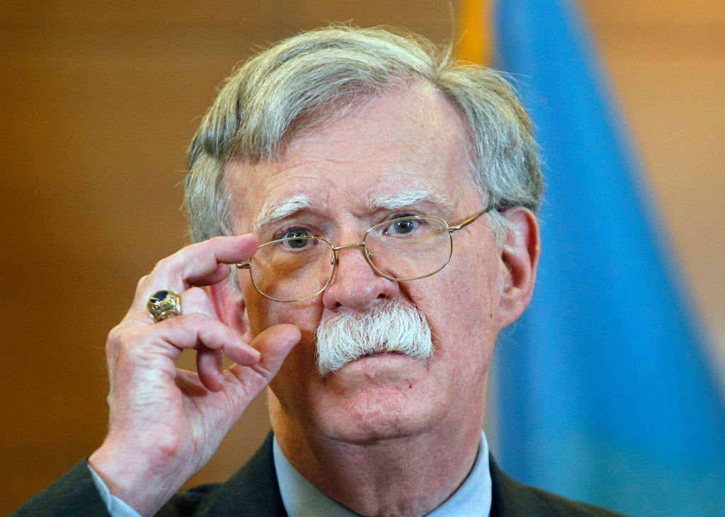 US National Security Adviser John Bolton speaks during a media conference in Kiev.                     John Bolton arrived to Kiev to meet with the top Ukrainian officials.