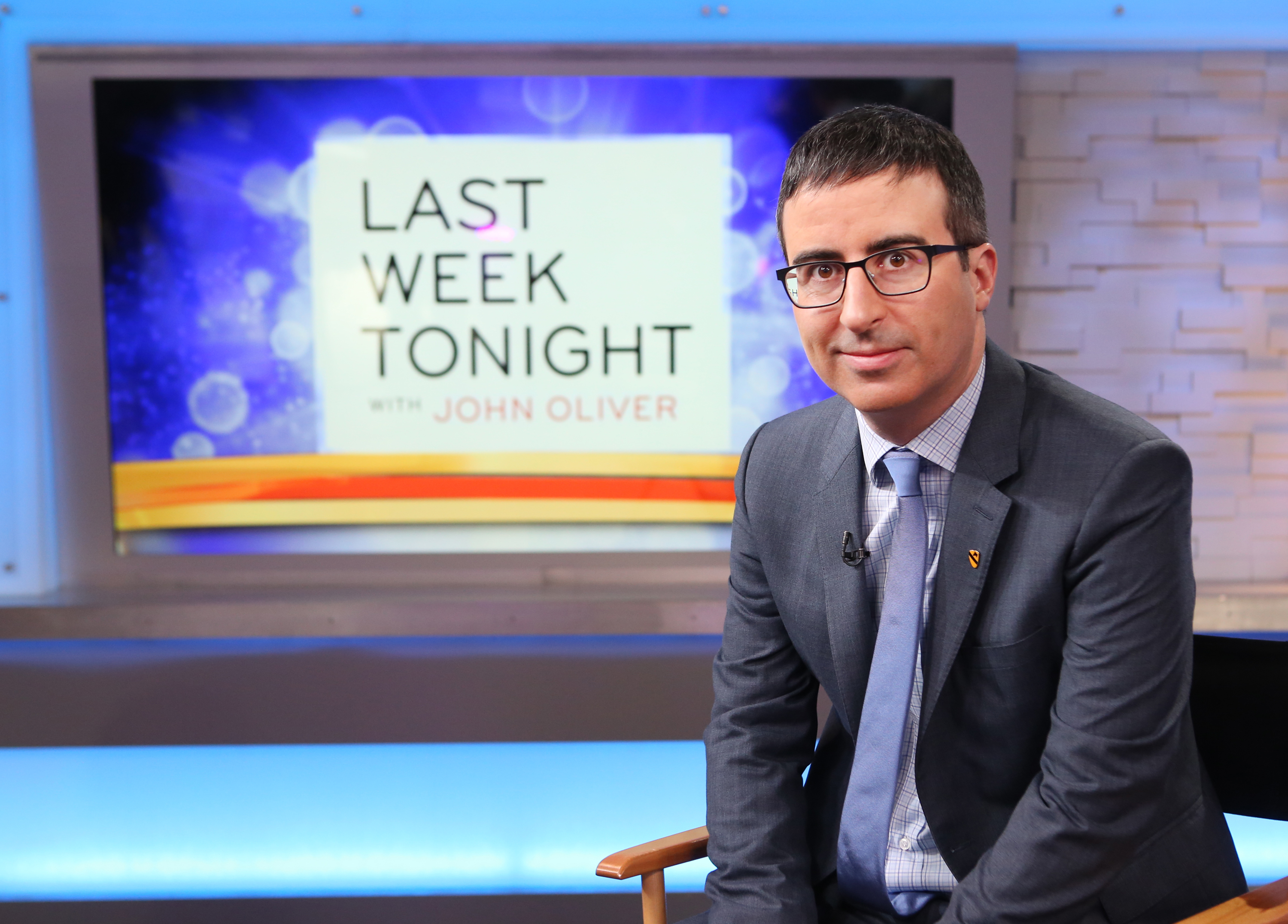 John Oliver is a guest on  Good Morning America,  2/6/15.
