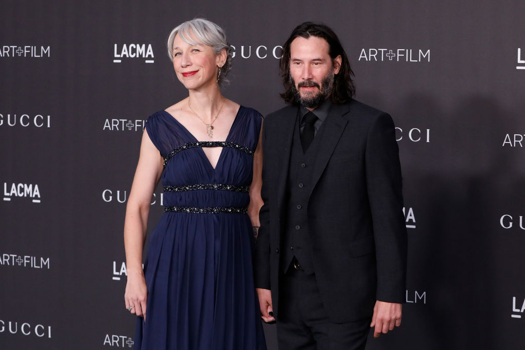 Alexandra Grant and Keanu Reeves attend the 2019 LACMA Art + Film Gala at LACMA on November 02, 2019 in Los Angeles, California. (Photo by Taylor Hill/Getty Images)