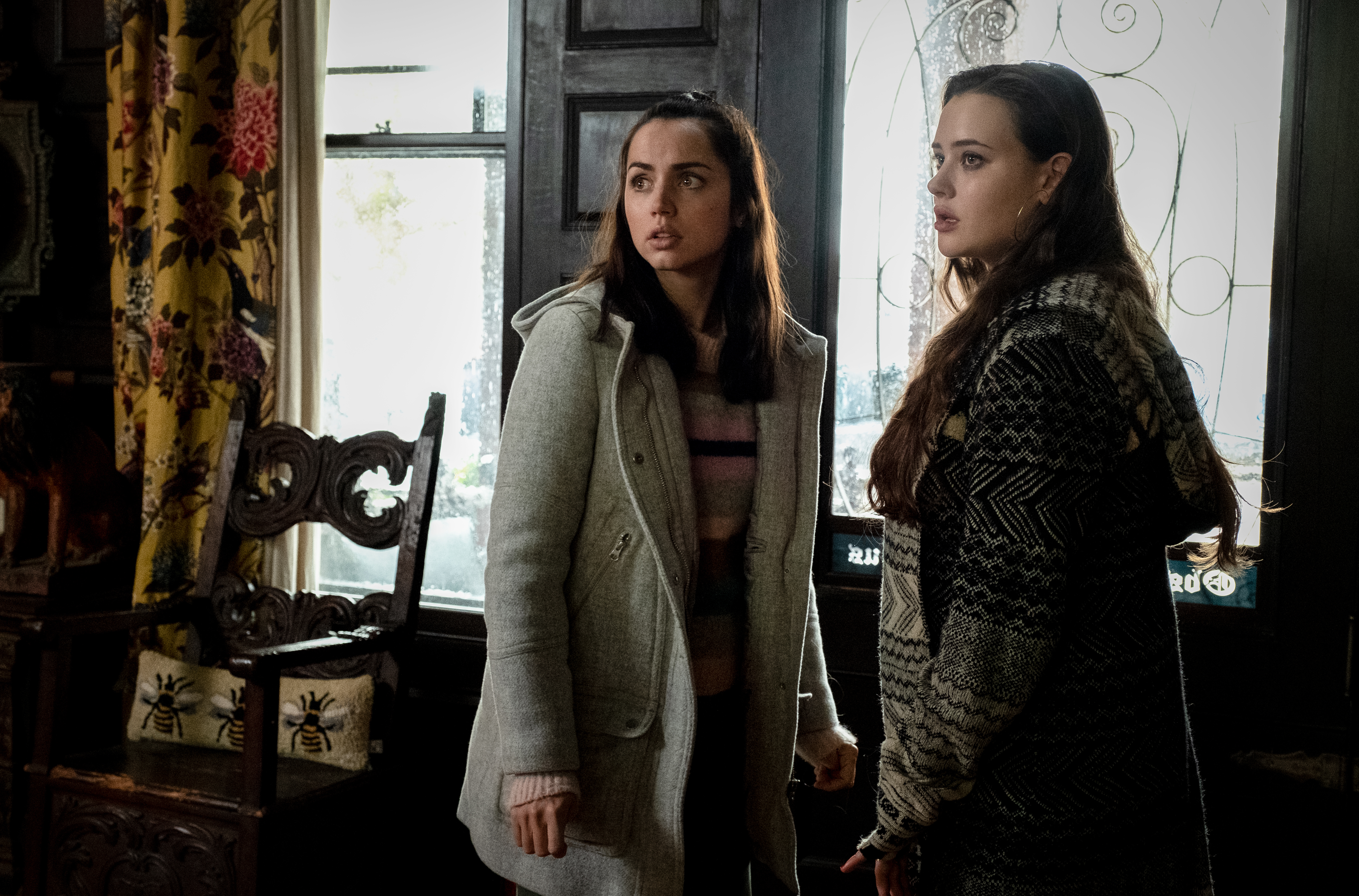 Ana de Armas, left, with Katherine Langford in  Knives Out.