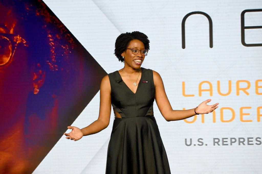 Rep. Lauren Underwood speaks onstage during TIME 100 Next 2019 at Pier 17 on Nov. 14, 2019 in New York City.