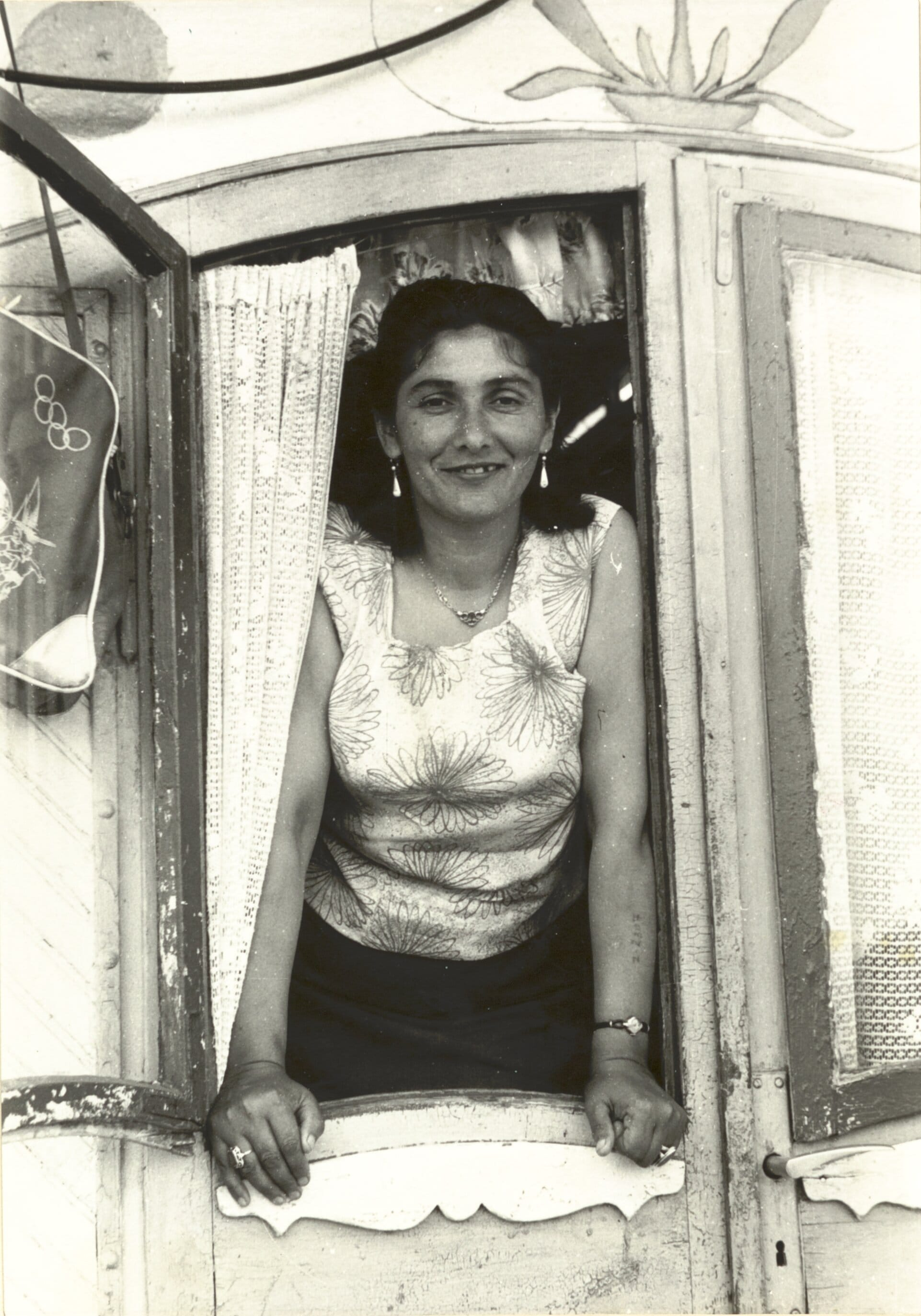 Margarete Kraus, a Czech Roma, photographed after the Second World War. Her Auschwitz tattoo is visible on her left arm.