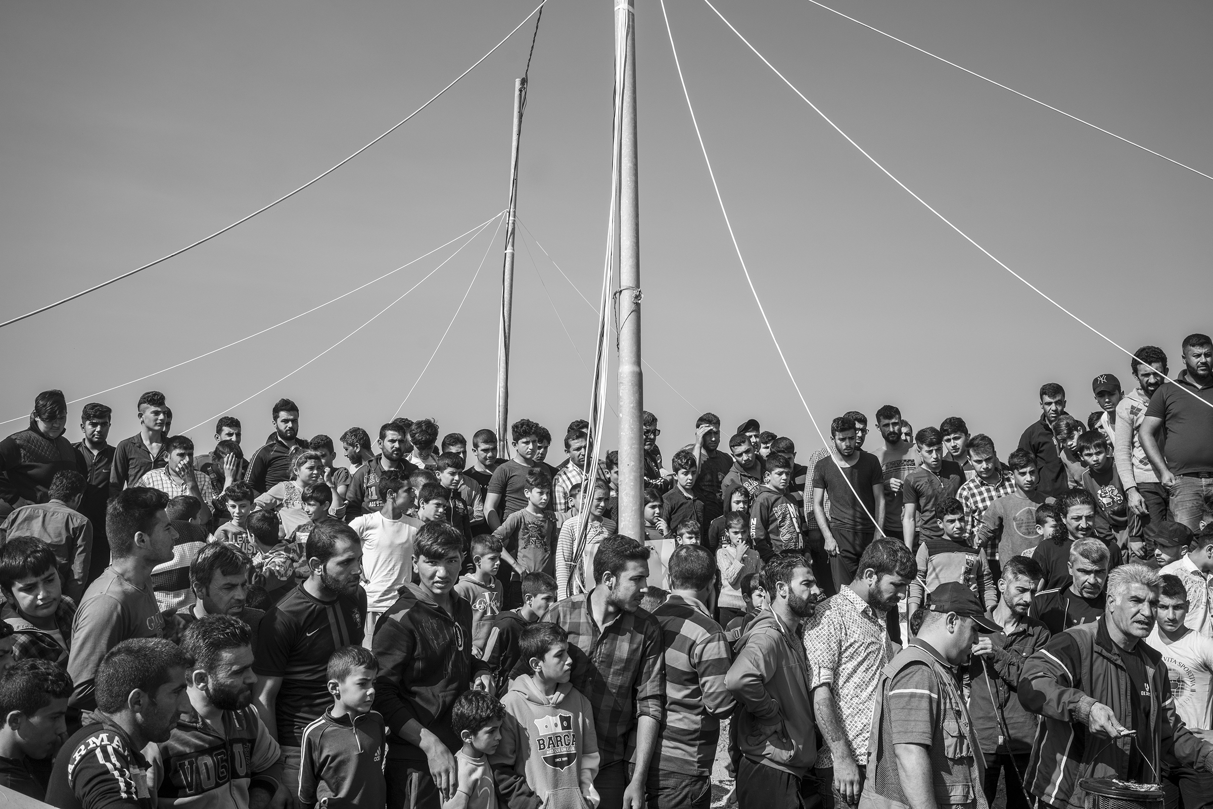 Syrian Kurdish refugees inside the Bardarash camp.