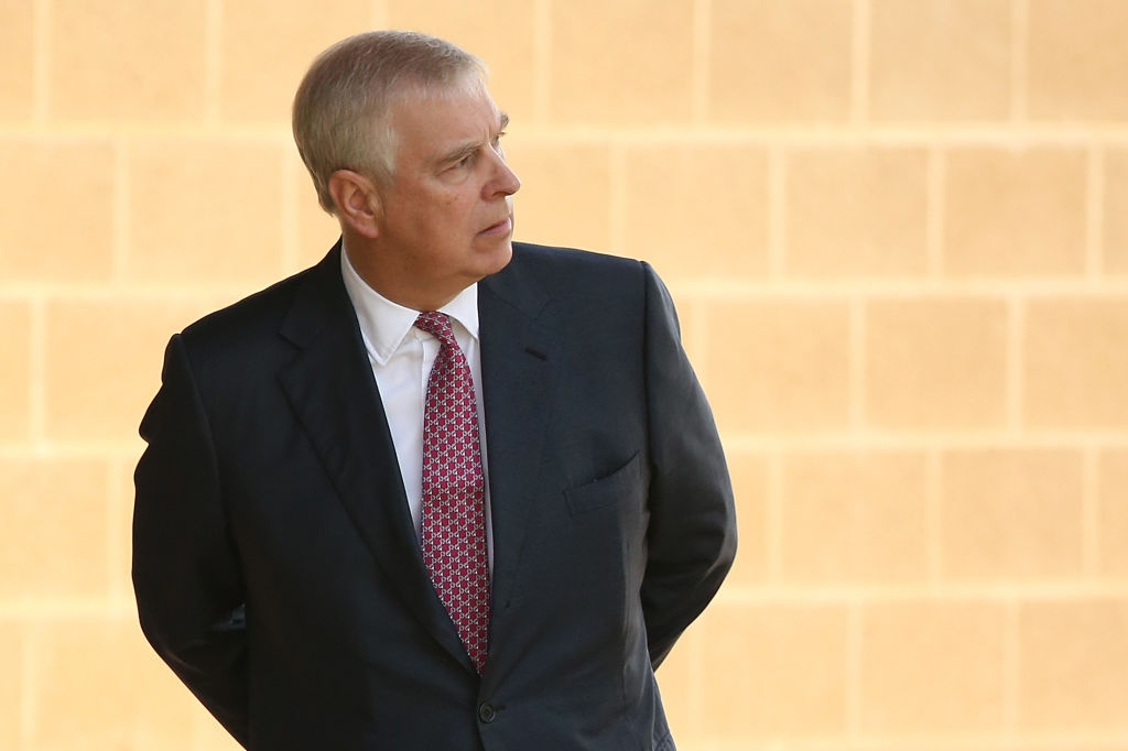 Prince Andrew arrives at Murdoch University in Perth, Australia, on Oct. 2, 2019.