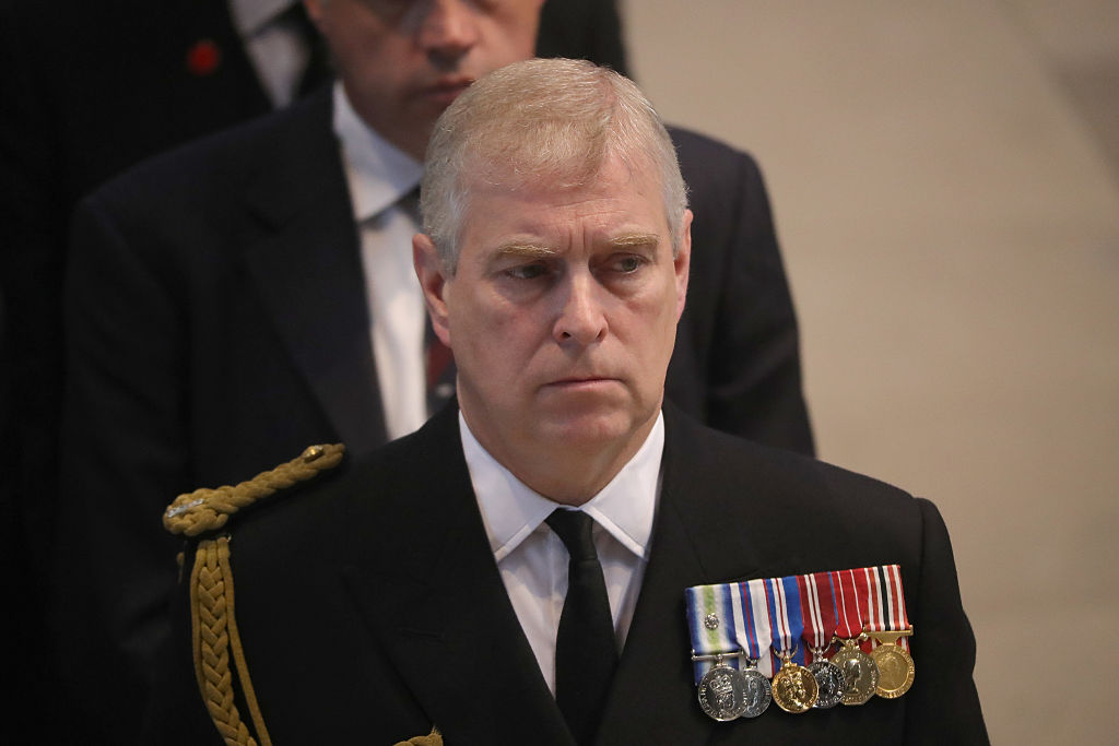 Prince Andrew attends a commemoration service at Manchester Cathedral marking the 100th anniversary since the start of the Battle of the Somme on July 1, 2016 in Manchester, England.