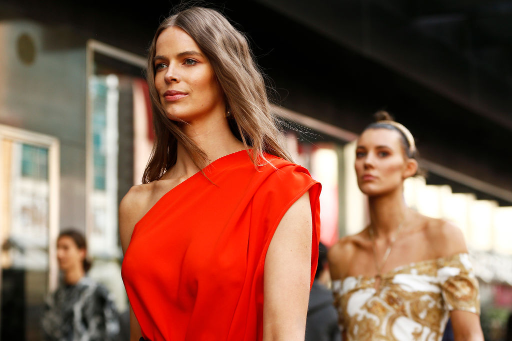 Robyn Lawley is seen during Pop Up 7 - Bella Unsigned Model Search at Melbourne Fashion Week on September 05, 2019 in Melbourne, Australia.