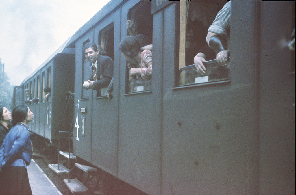 German Sinti in the train that will take them to a camp in Poland on May 22, 1940.