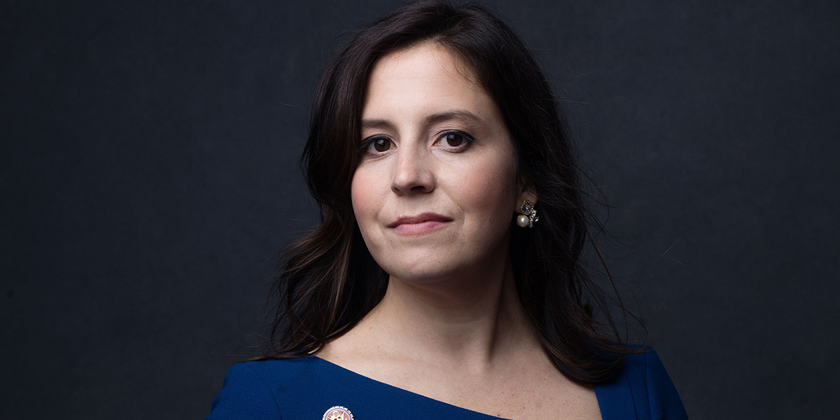 The 36-year old daughter of father (?) and mother(?) Elise Stefanik in 2020 photo. Elise Stefanik earned a million dollar salary - leaving the net worth at million in 2020