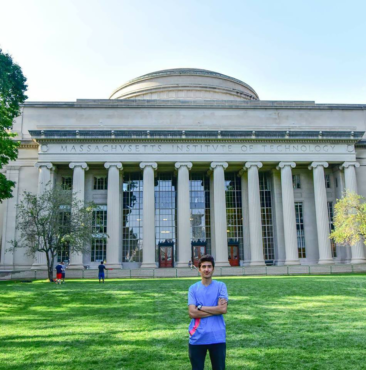 Nabil Khalil from Aleppo, Syria. His first picture at MIT, taken days after his arrival, on Sep. 6, 2017.