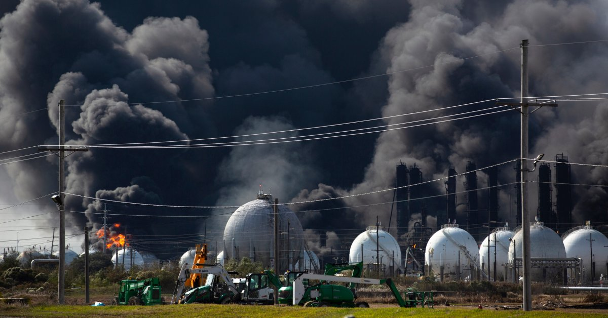 Chemical Plant Explosion in South Texas Forces Evacuation of 50,000 As Fire Rages