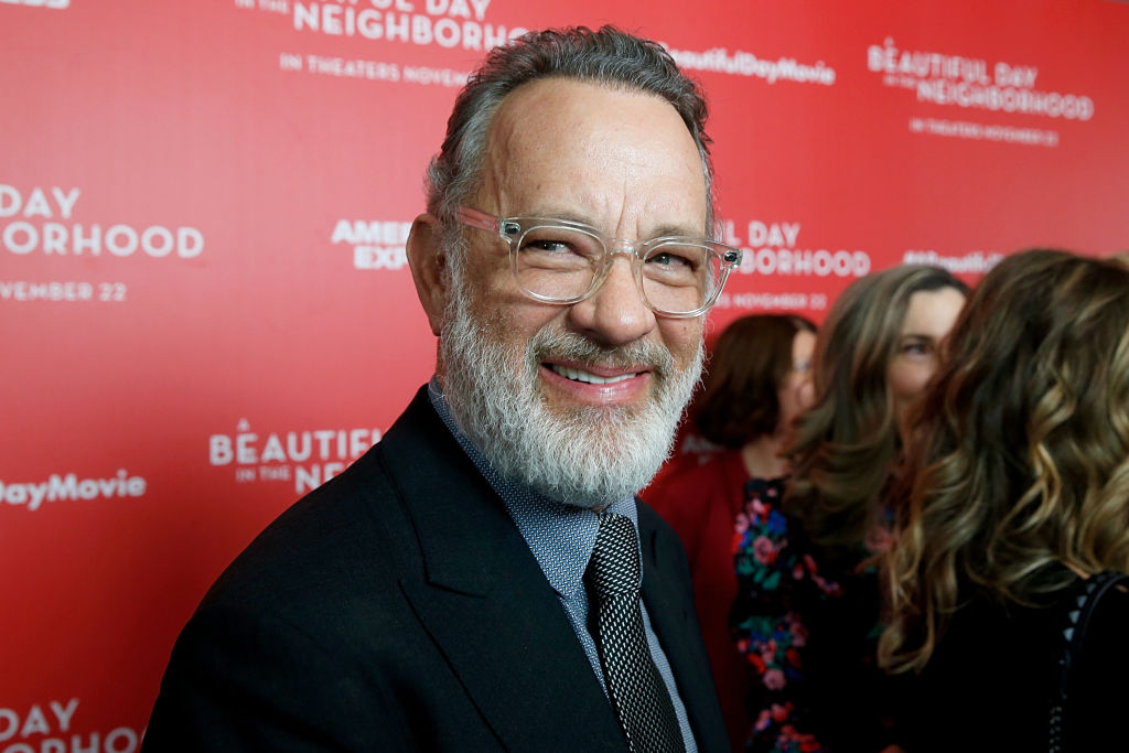 Tom Hanks attends  A Beautiful Day In The Neighborhood  New York Screening at Henry R. Luce Auditorium at Brookfield Place on November 17, 2019 in New York City.