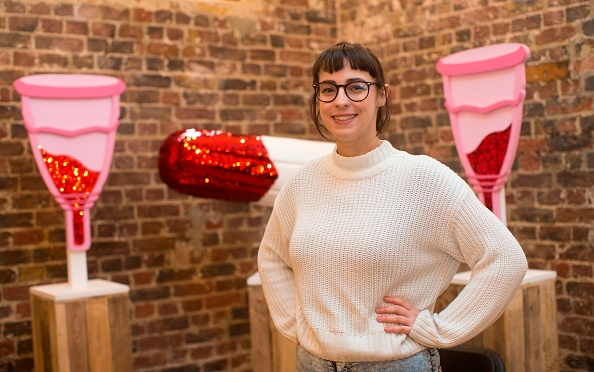 Director Florence Schechter poses for a picture during the press preview of the new Vagina Museum in Camden market, north London on November 14, 2019.