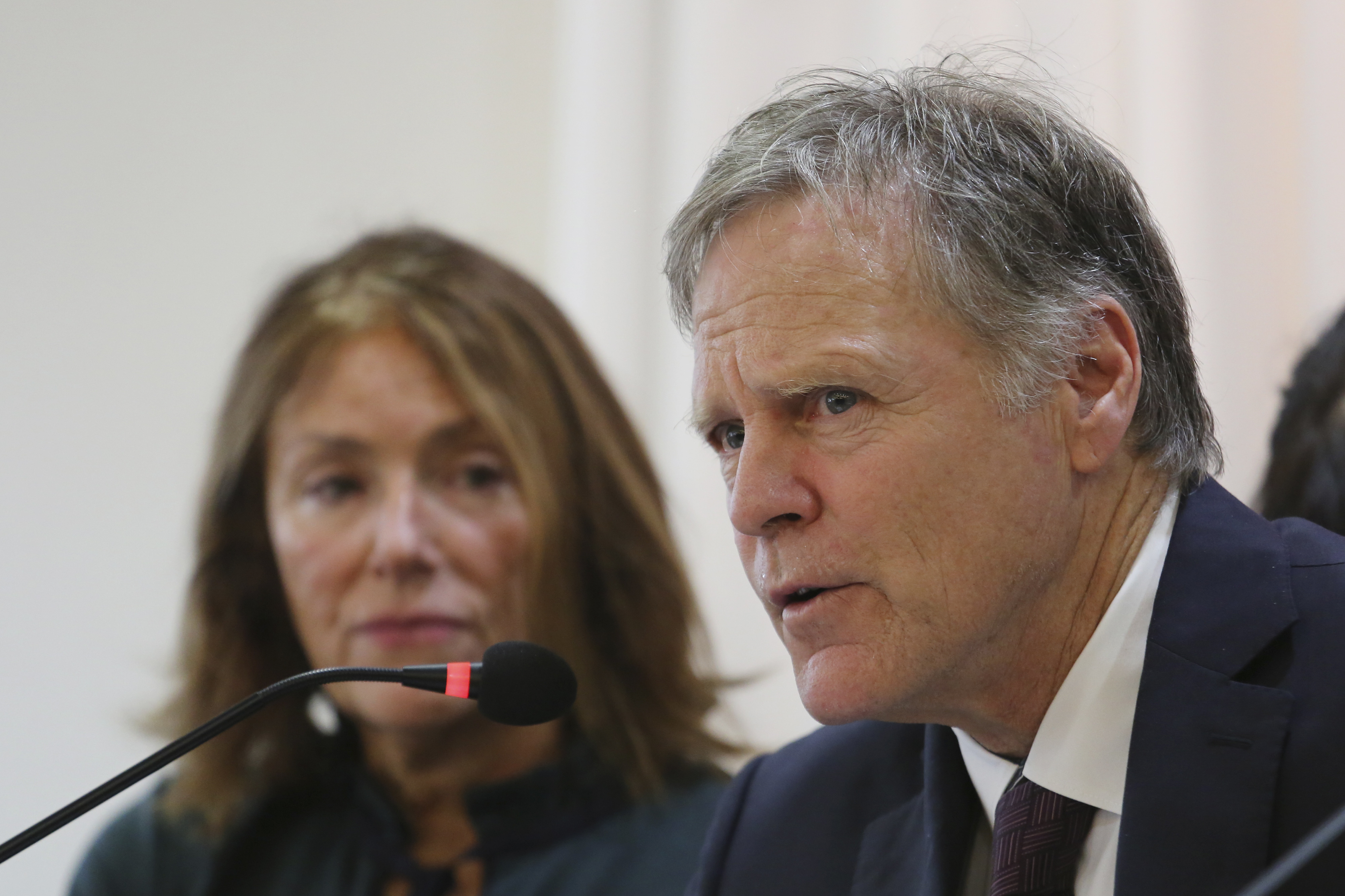 Fred and Cindy Warmbier, parents of Otto Warmbier who died after being released by North Korea, speak at a press conference in Seoul, South Korea, on Nov. 22, 2019.