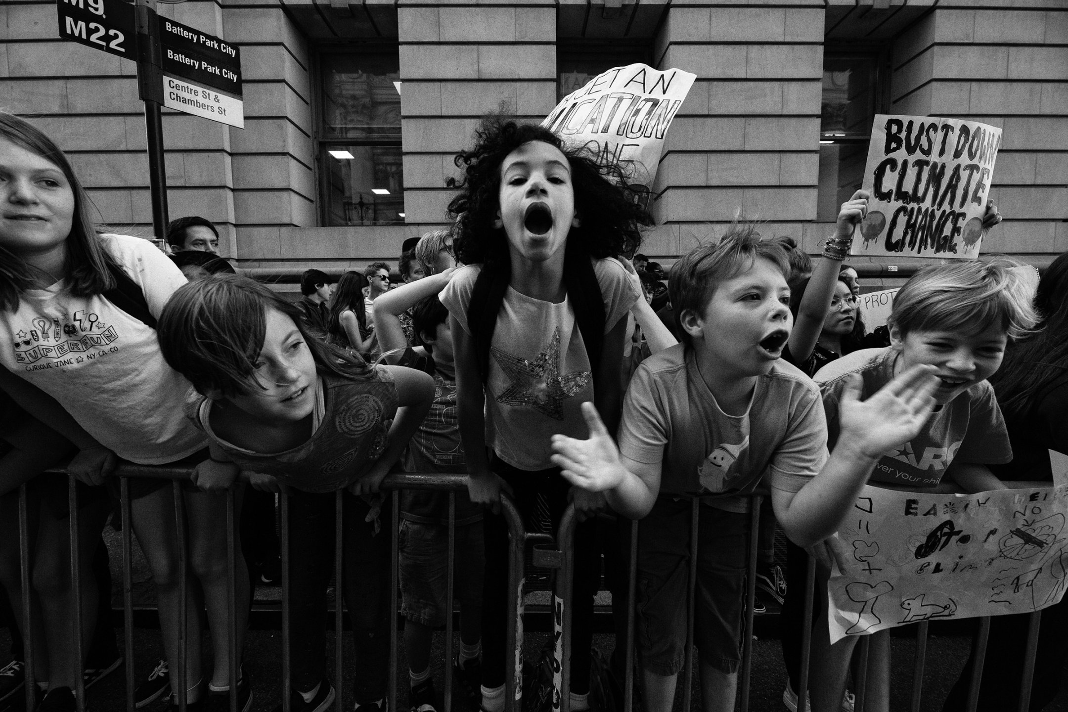 Children chant during a climate protest in New York City on Sept. 20. They were among 4 million people who joined the global climate strike that day, in what was the largest climate demonstration in human history.