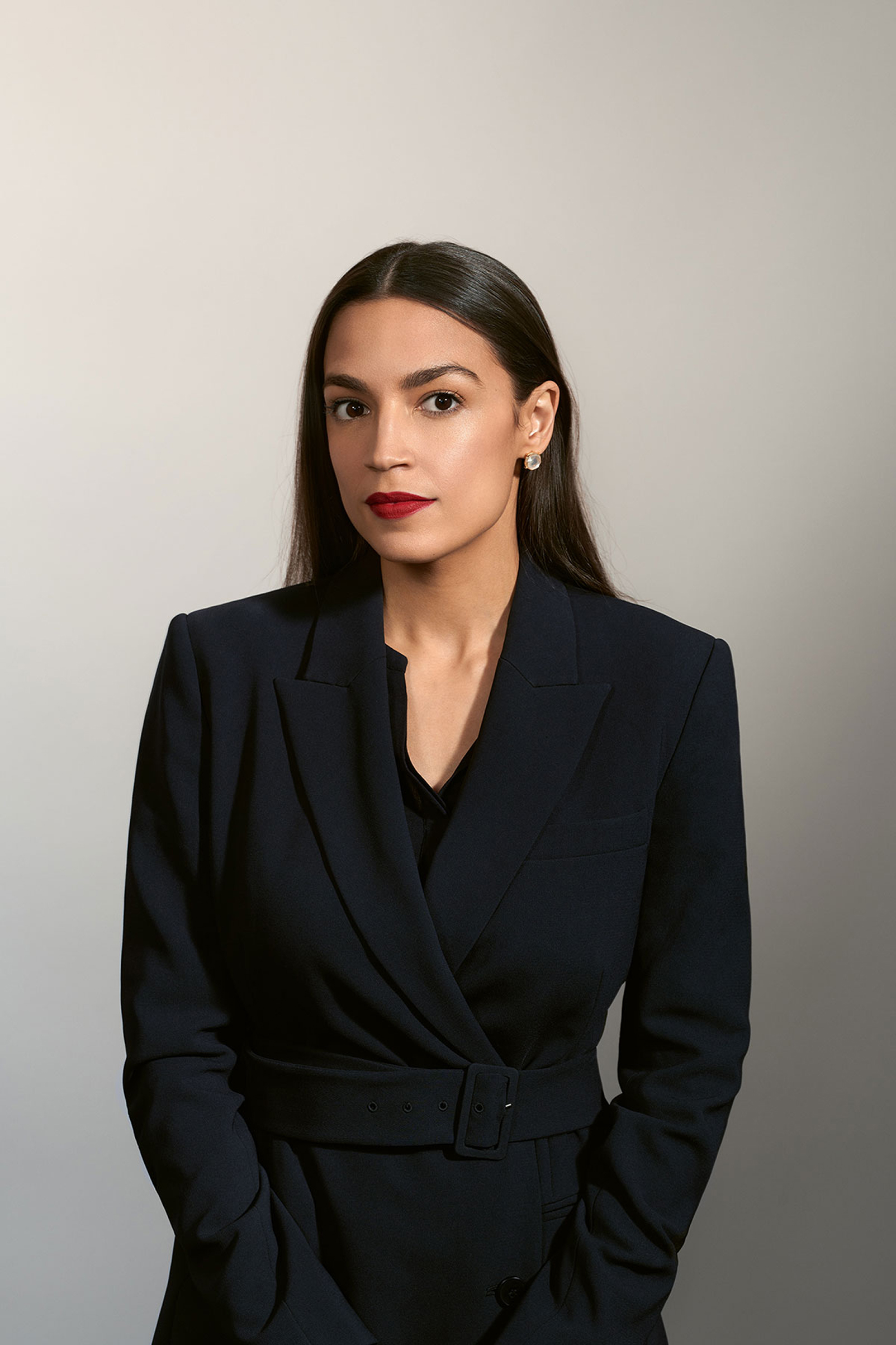 Rep. Alexandra Ocasio-Cortez.  TIME 100 Most Influential People,  April 29 issue.