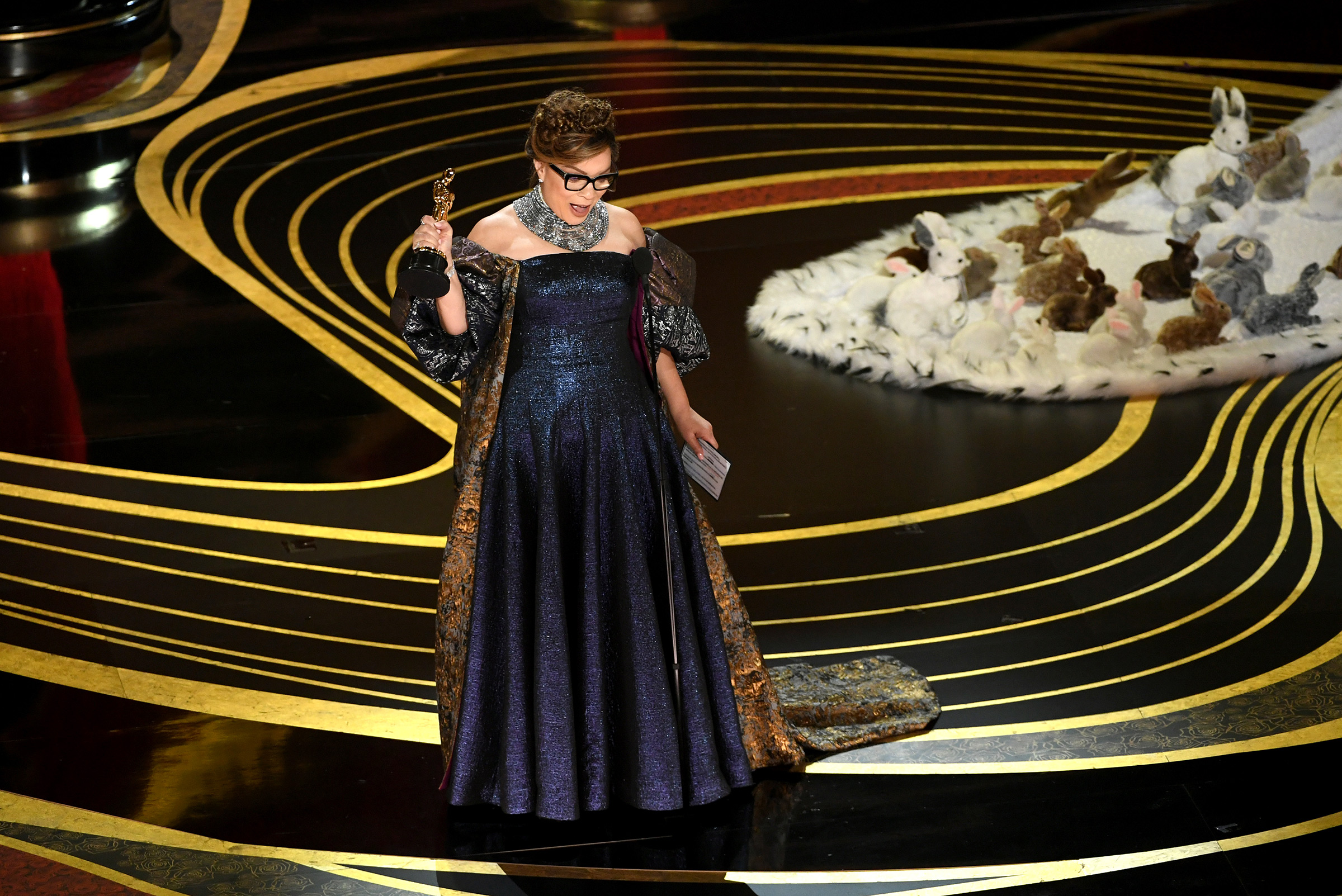 Ruth E. Carter accepts the Costume Design award for 'Black Panther' during the 91st Annual Academy Awards on Feb. 24, 2019.
