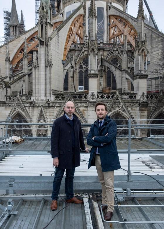Laurent Prades, left, and Antoine-Marie Préaut on Nov. 29