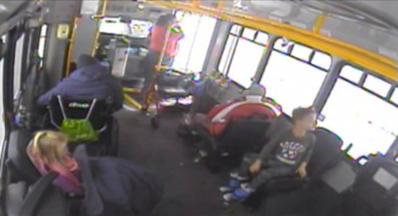 Nicole Chamberlain, a bus driver in Waukesha, Wis., brought two kids in as temperatures fell on Nov. 11