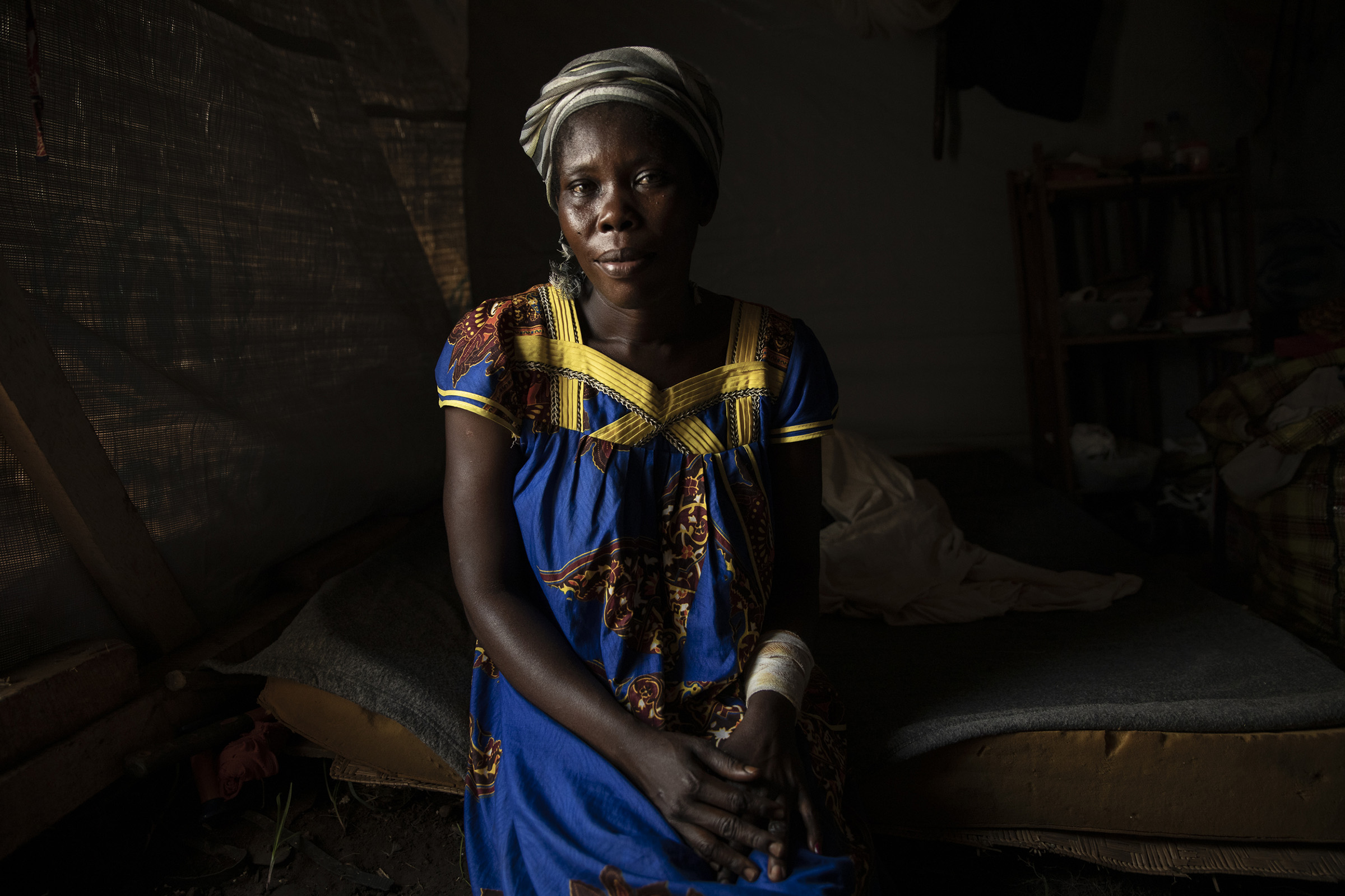 Nina Yaeke, a 30-year-old mother of 8, used to live on Monkey Island, midway between the Central African Republic and the Democratic Republic of Congo. She completely lost her home to flooding, and hopes to live in Bangui in the future.