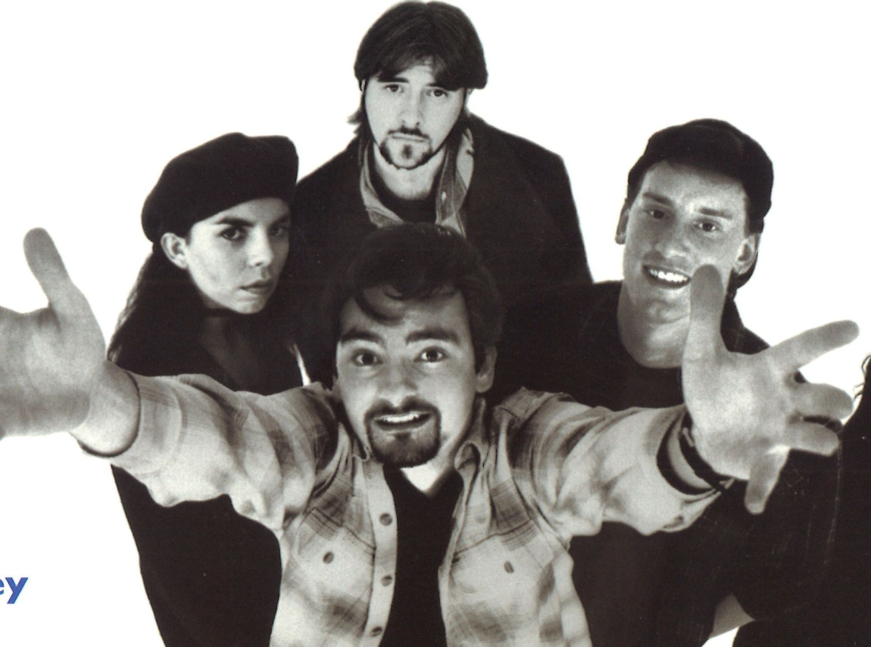 (clockwise from left Marilyn Ghigliotti, Kein Smith, Jeff Anderson and Brian O'Halloran) Clerks (1994)