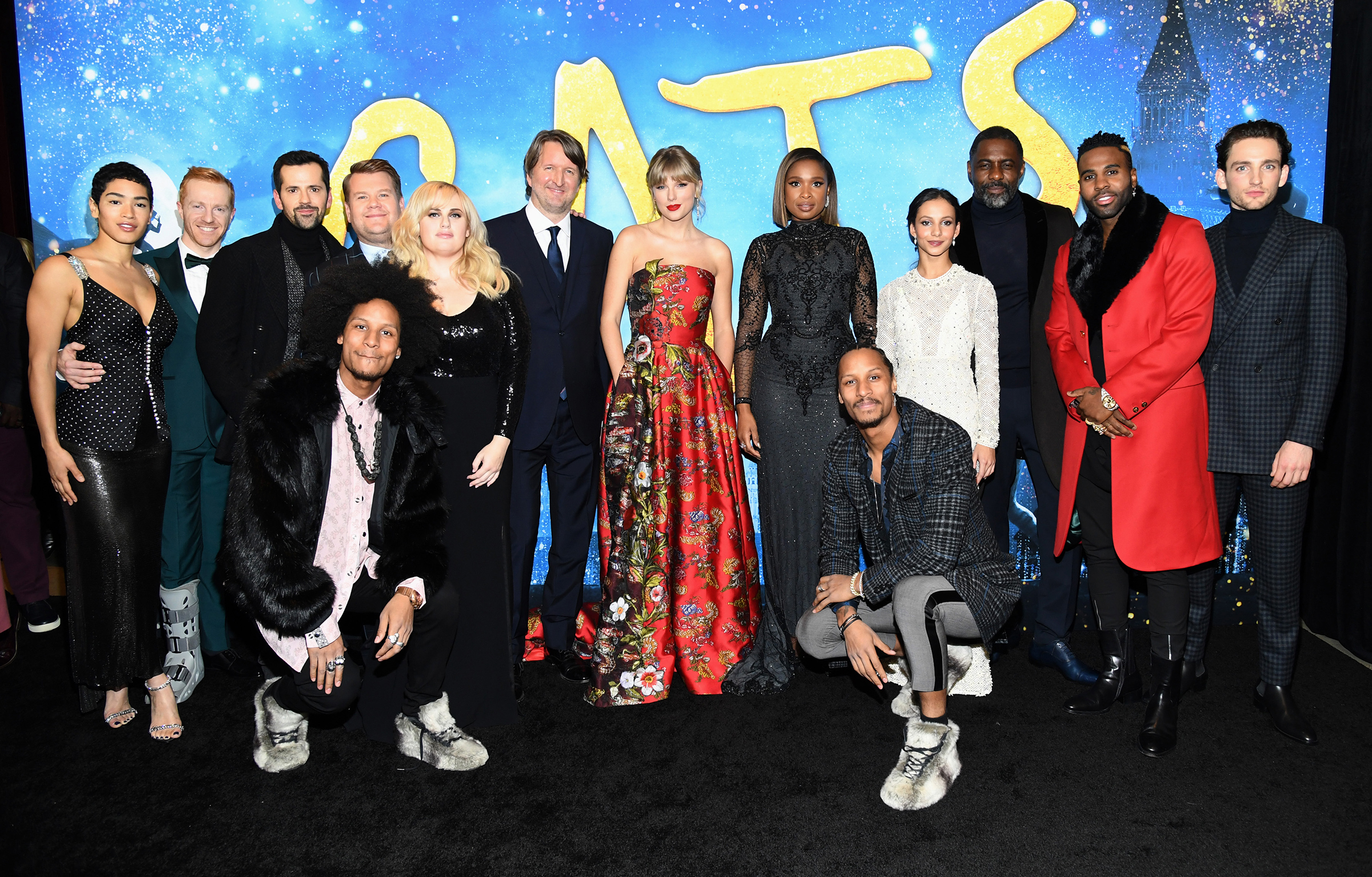 The cast of 'Cats' attends The World Premiere of Cats, presented by Universal Pictures in New York City on Dec 16, 2019.