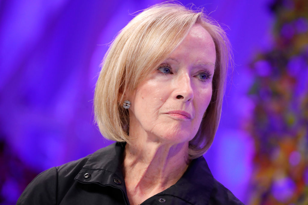PBS NewsHour Anchor and Managing Editor Judy Woodruff speaks onstage at the Fortune Most Powerful Women Summit - Day 2 on October 10, 2017 in Washington, DC.