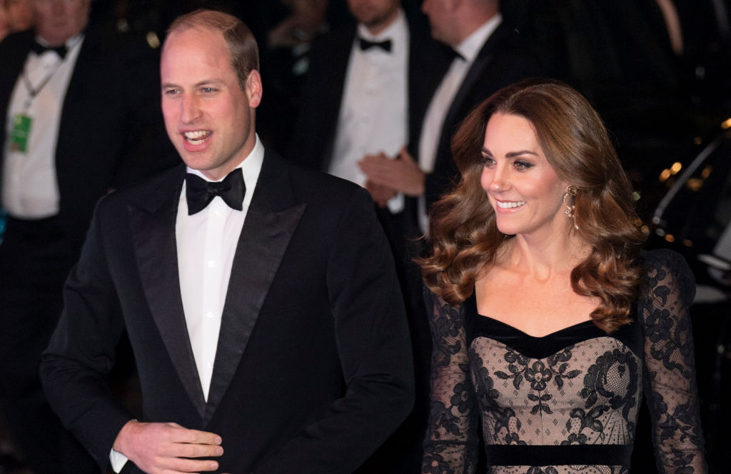 Prince William, Duke of Cambridge and Catherine, Duchess of Cambridge attend the Royal Variety Performance at Palladium Theatre on November 18, 2019 in London, England.