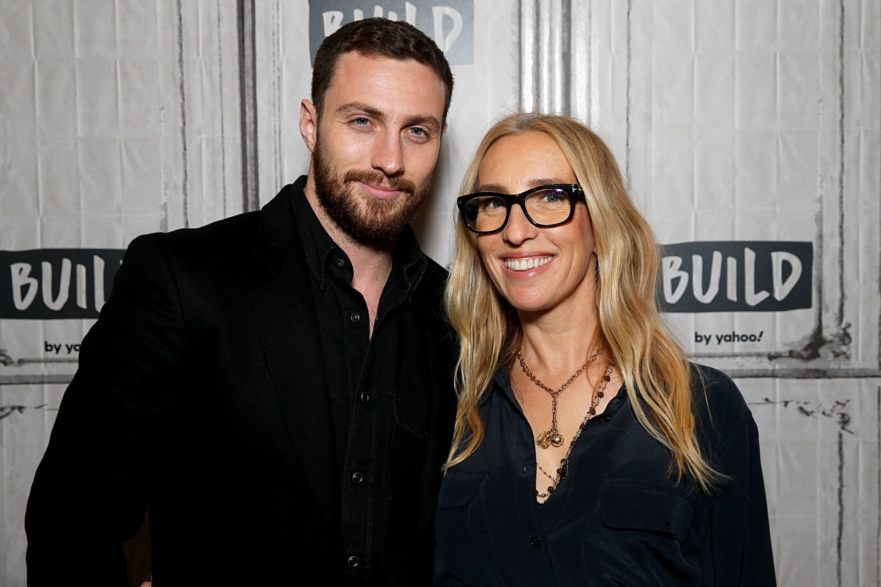 Aaron Taylor-Johnson and Sam Taylor-Johnson attend the Build Series to discuss 'A Million Little Pieces' on December 02, 2019 in New York City.