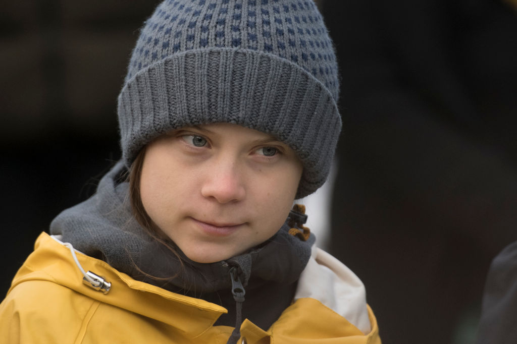 Greta Thunberg attends Fridays For Future Strike in Turin on Dec. 13, 2019 in Turin, Italy.