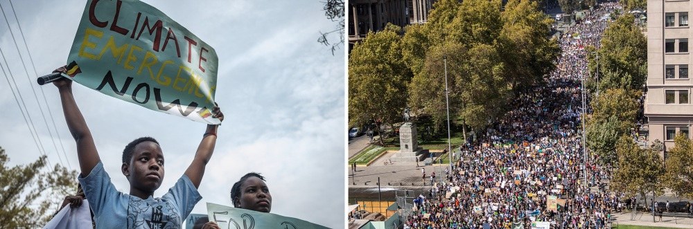 Africa and South America climate protest