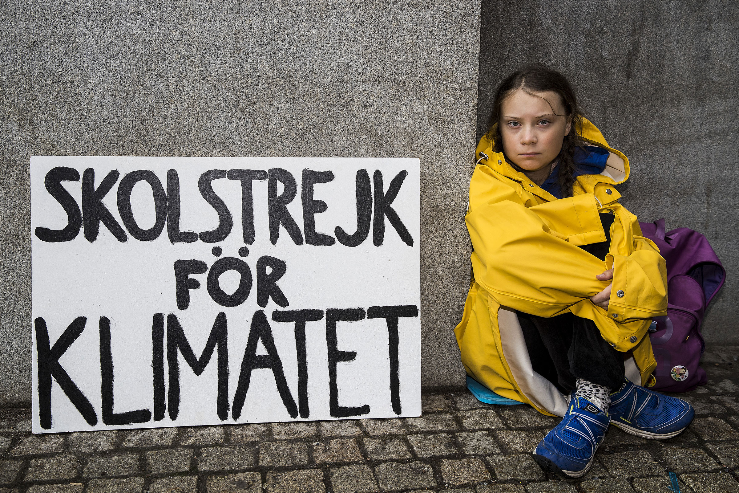 Thunberg first began skipping school in August 2018, sitting in front of Swedish Parliament to demand climate action