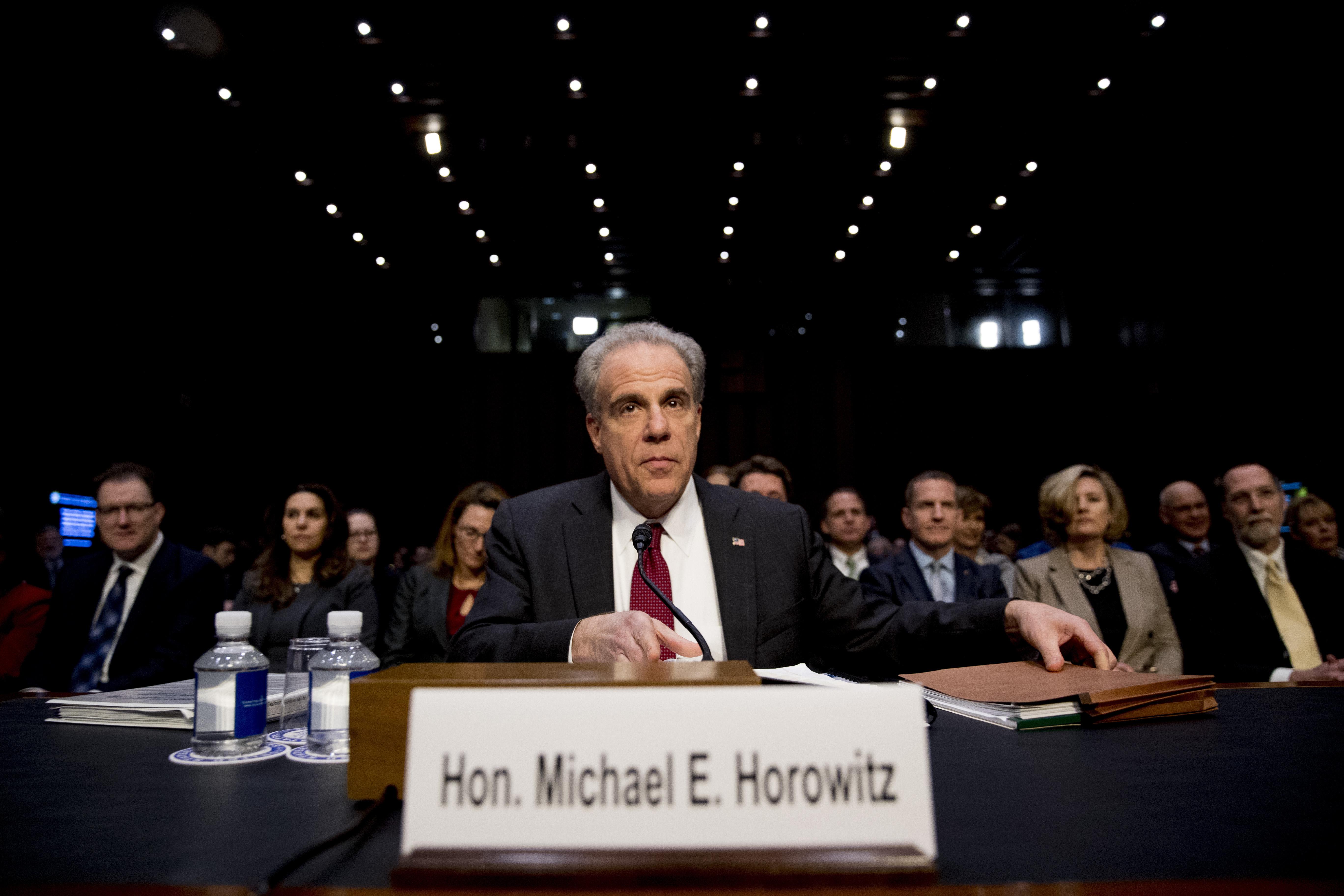DOJ Watchdog Tells Congress FBI's Russia Probe Marred by 'Basic and Fundamental Errors'