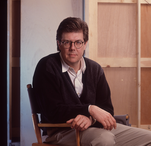 John Hughes on the set of the movie 'Curley Sue' in Chicago, Illinois, on November 28, 1990.