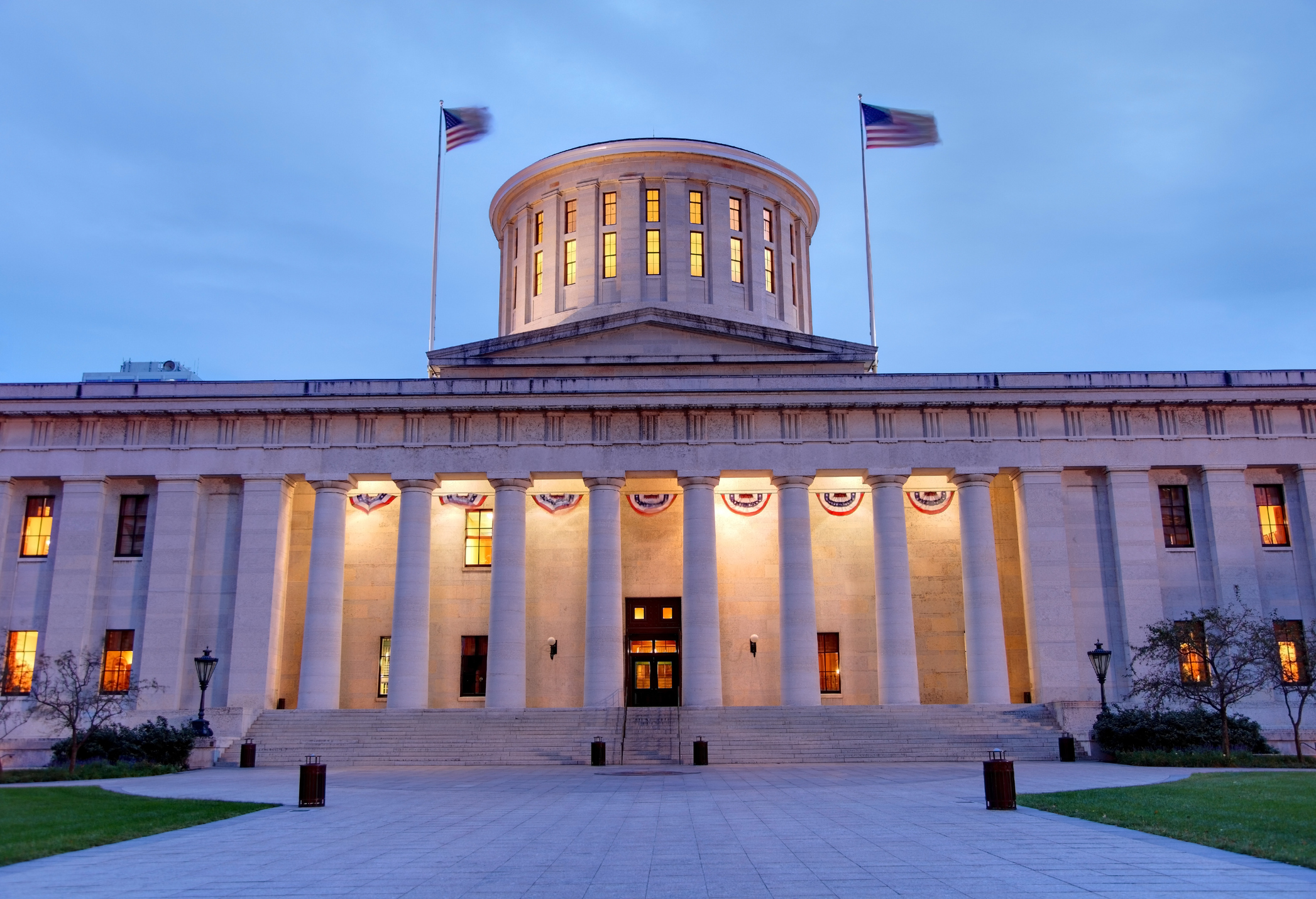 The Ohio Statehouse, located in Columbus, Ohio, is the house of government for the state of Ohio