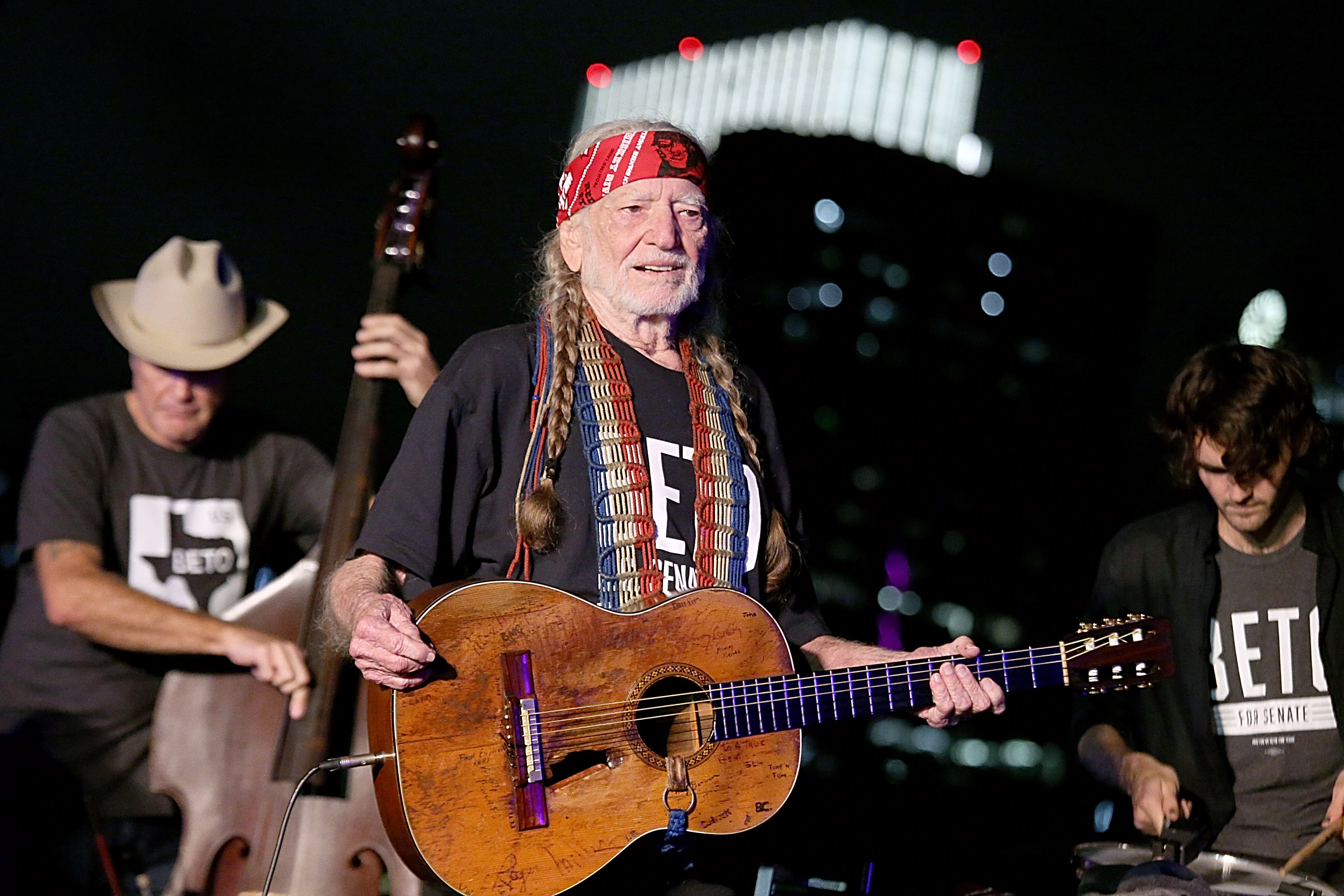 Willie Nelson, 86, seen in Austin in September 2019, says he has quit smoking, but still consumes marijuana.