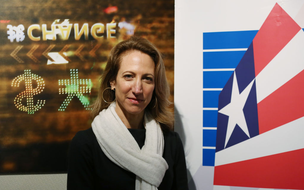 American Chamber of Commerce (AmCham) president Tara Joseph, poses for a picture in Hong Kong on March 31, 2017.