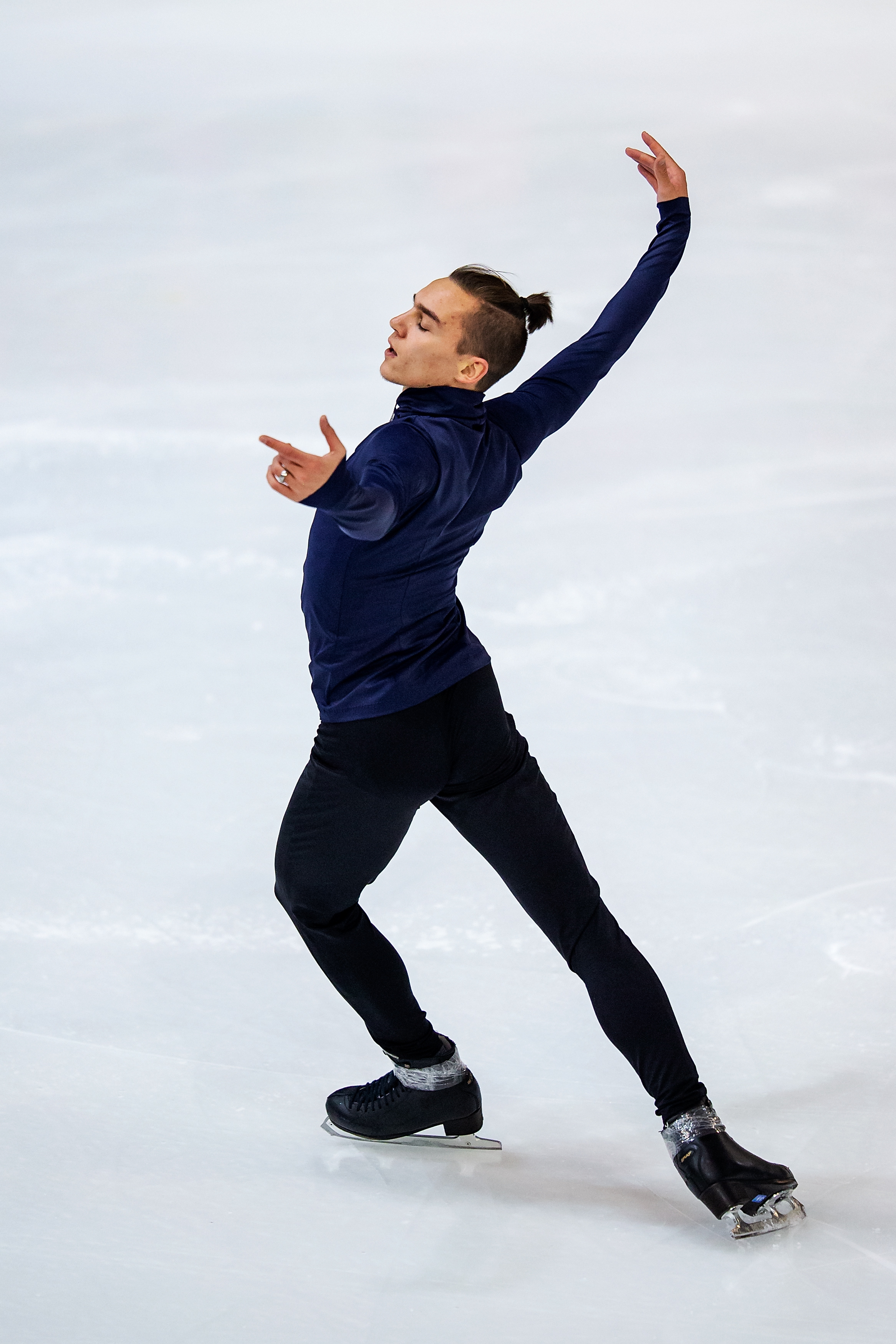 Anton Shulepov of Russia competes in the men's short program during day 1 of the ISU Grand Prix of Figure Skating Internationaux de France at Polesud Ice Skating Rink on Nov. 01, 2019 in Grenoble, France.