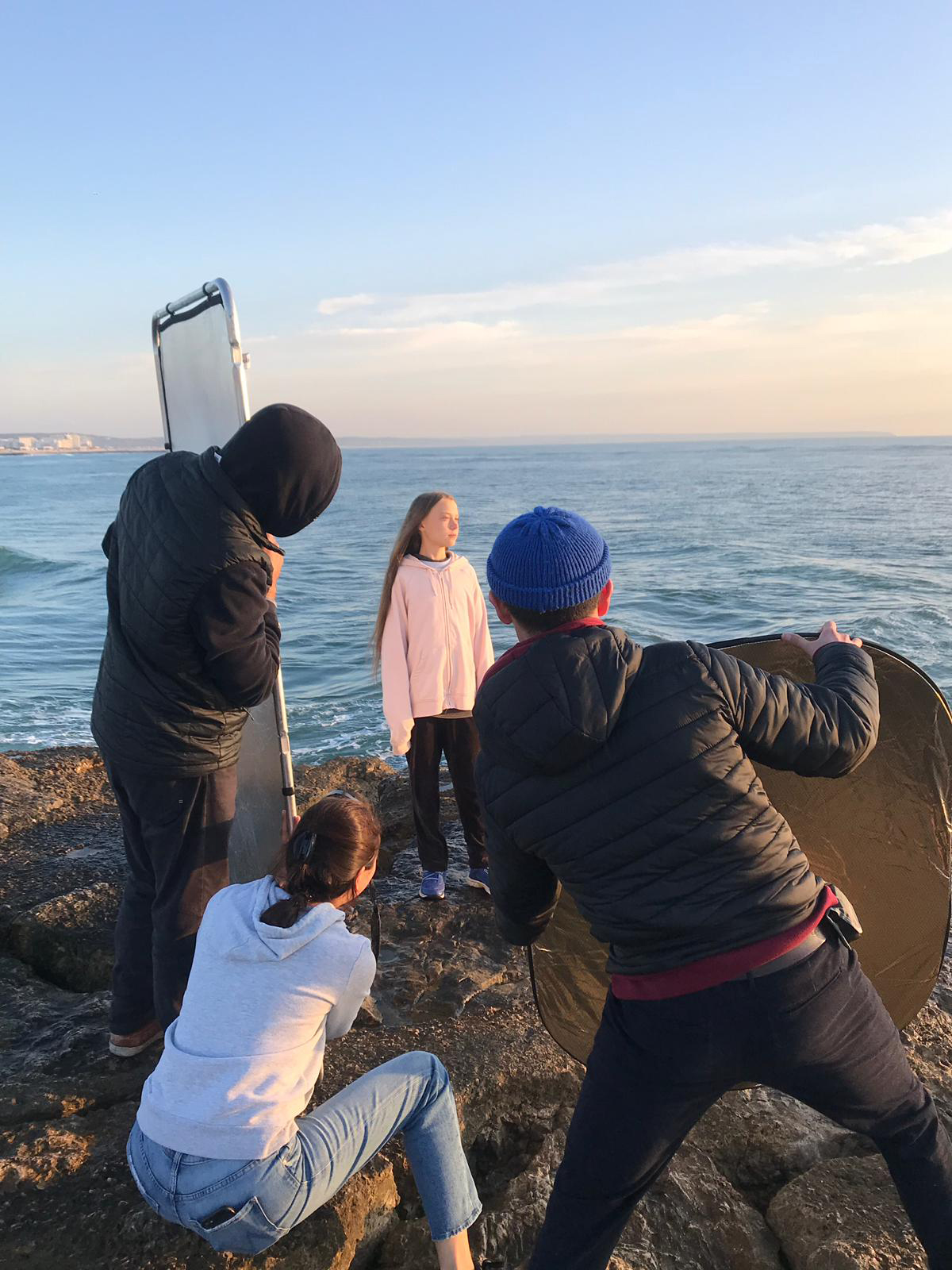 Photographer Evgenia Arbugaeva, who grew up in the Russian Arctic, scouted Lisbon for two days before choosing a rocky beach near the city as the setting for the TIME cover shoot on Dec. 4.
