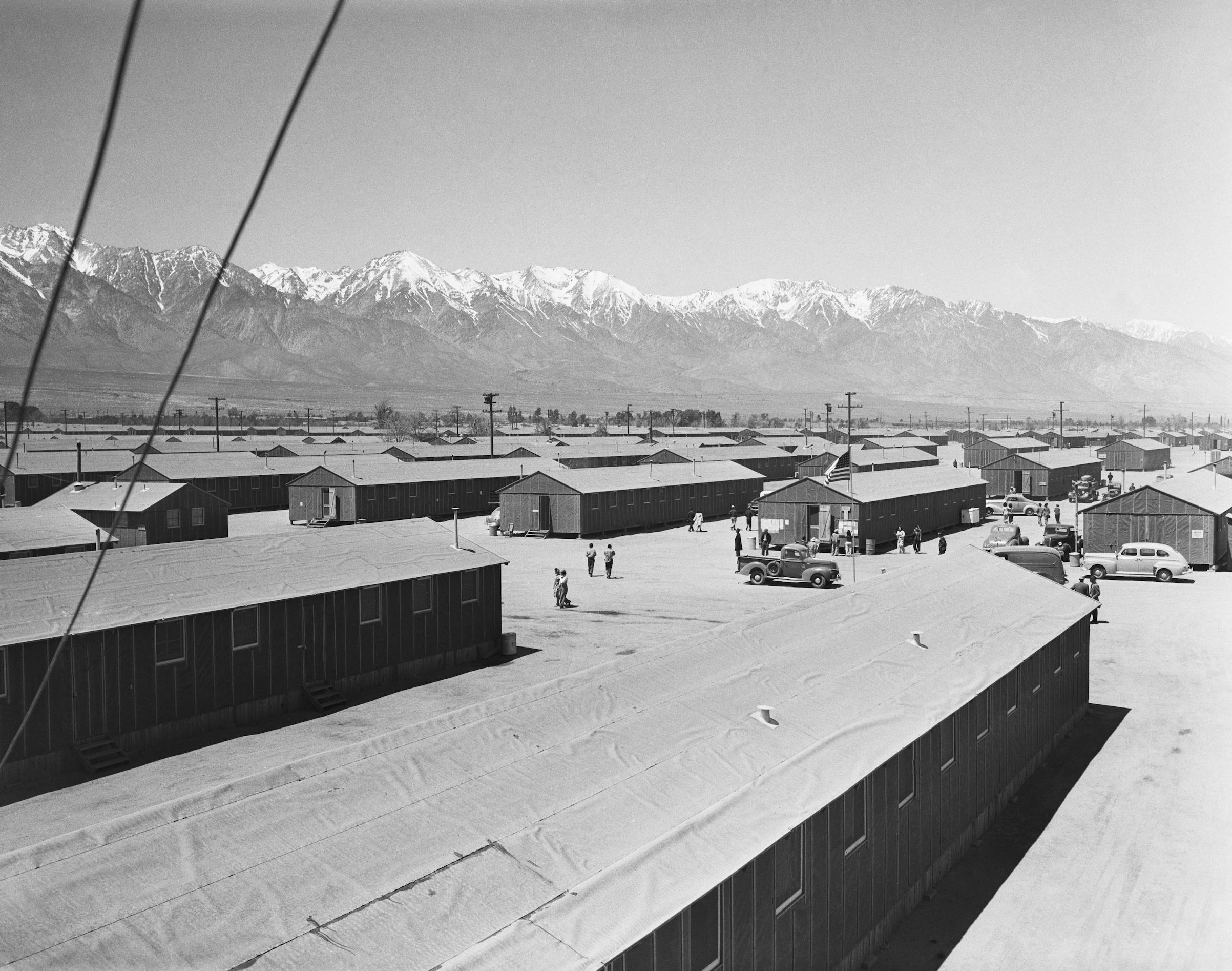 The incarceration camp at Manzanar, Calif., in 1942
