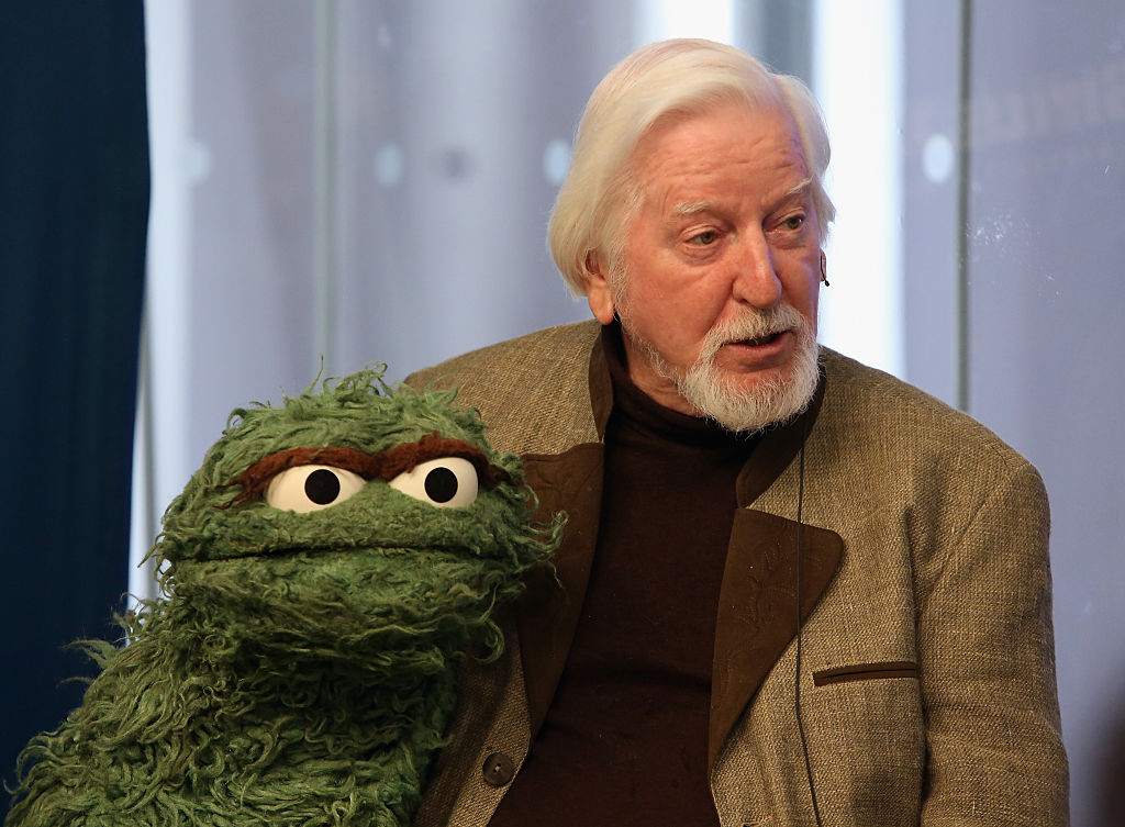 Caroll Spinney attends SiriusXM's town hall with original cast members from Sesame Street on Oct. 9, 2014 in New York City to commemorate the 45th anniversary of the celebrated series' debut on public television.
