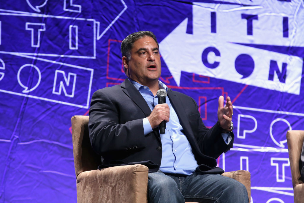 Cenk Uygur speaks onstage during Politicon 2018 at Los Angeles Convention Center in Los Angeles, California on October 21, 2018.