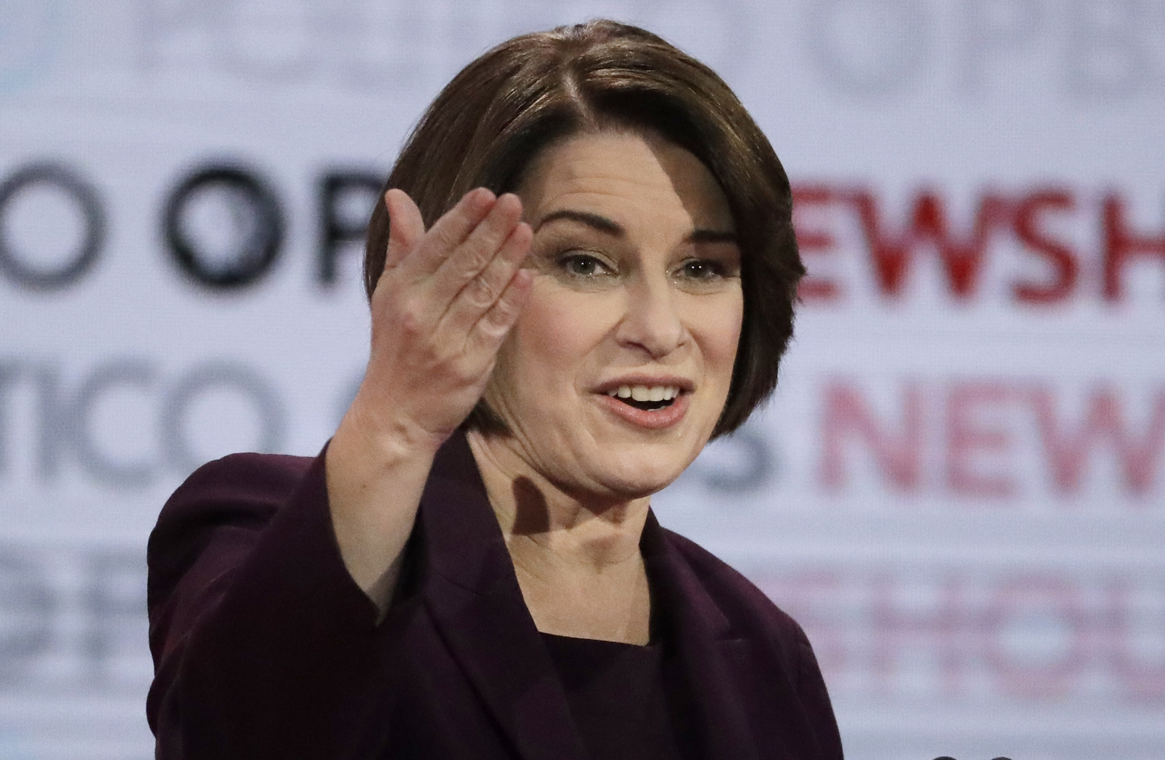 Democratic presidential candidate Sen. Amy Klobuchar, D-Minn., speaks during a Democratic presidential primary debate in Los Angeles on Dec. 19, 2019.