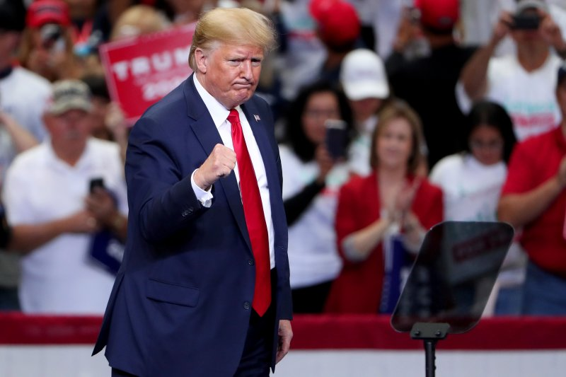 President Donald Trump speaks during a Keep America Great rally on Oct. 17, 2019 in Dallas, Texas.