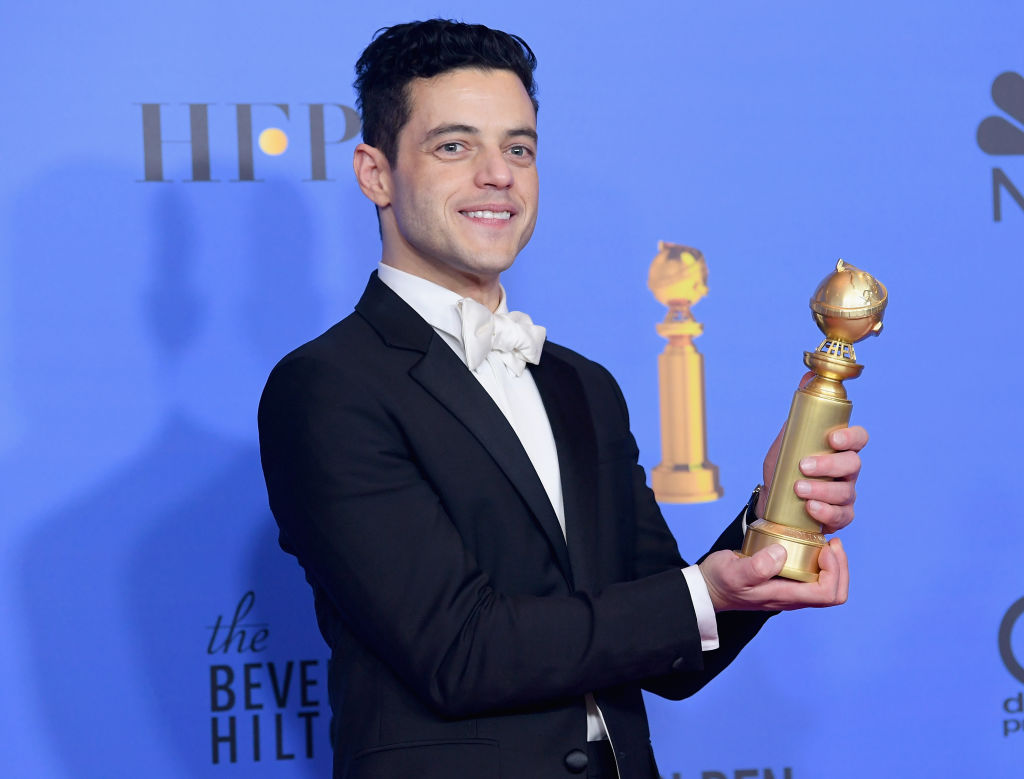 Best Actor in a Motion Picture Drama for 'Bohemian Rhapsody' winner Rami Malek poses in the press room during the 76th Annual Golden Globe Awards at The Beverly Hilton Hotel on Jan. 6, 2019 in Beverly Hills, California.