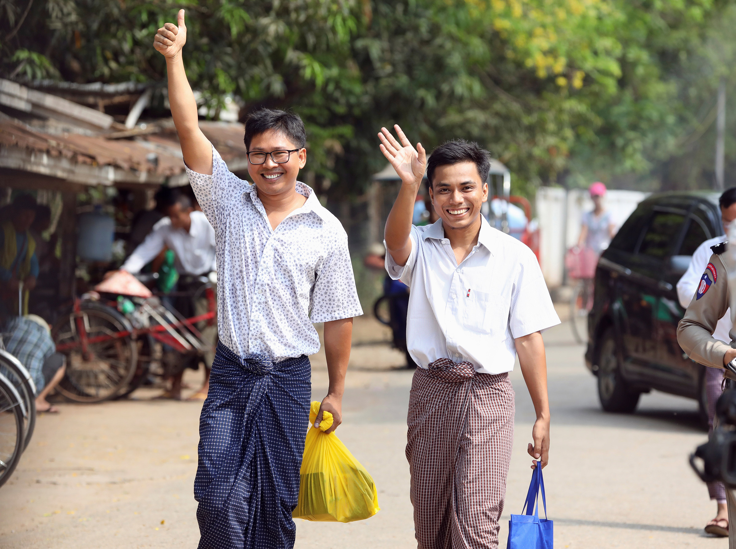 A rare bright spot: Wa Lone and Kyaw Soe Oo Leave prison May 6