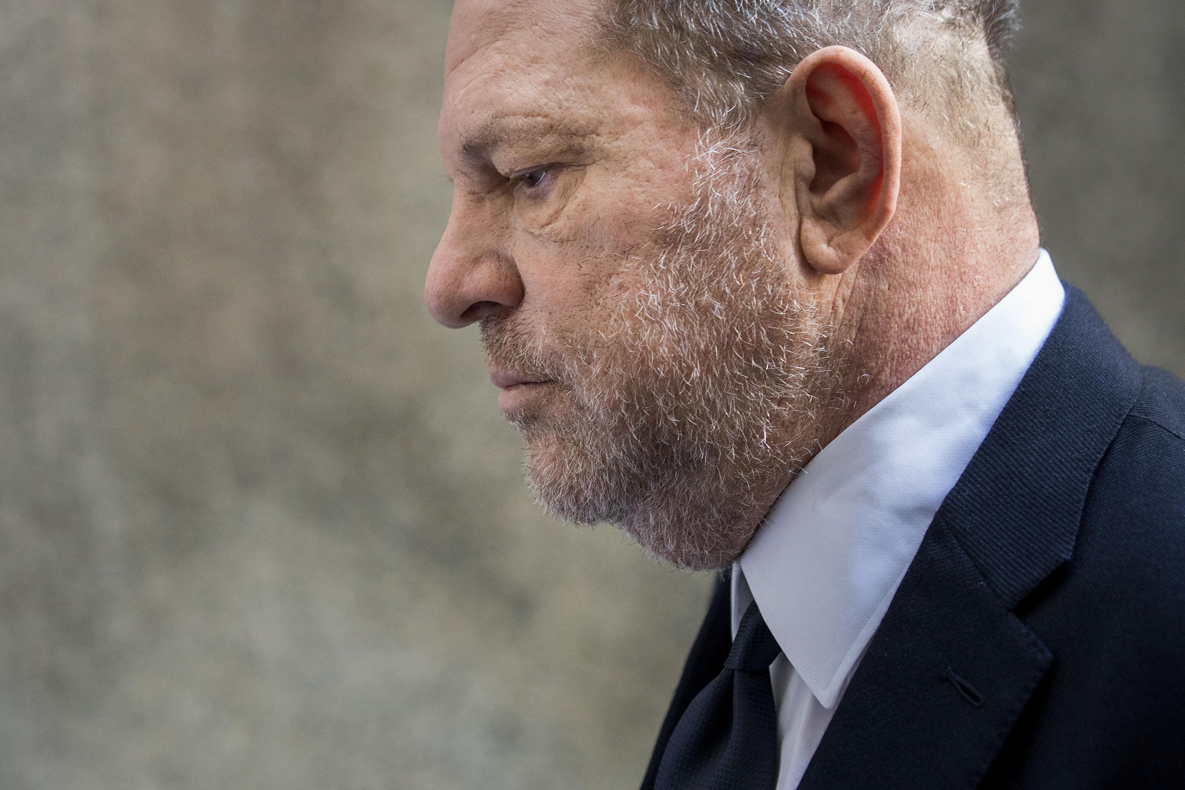 Harvey Weinstein arrives at State Supreme Court, June 5, 2018 in New York City.