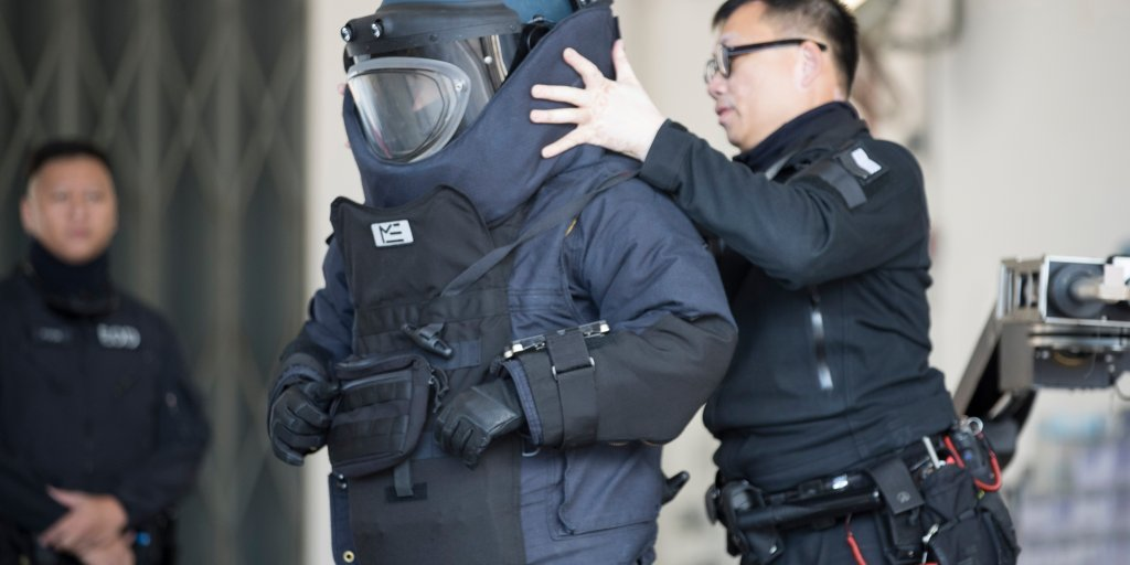 Police Defuse Two Homemade Bombs Being Stored at a Hong Kong High School