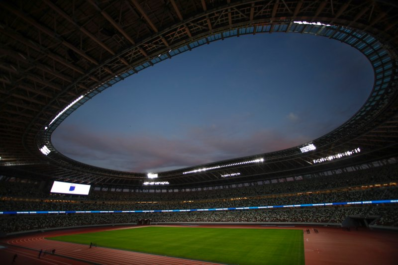 A general view of the new National Stadium is seen on Dec. 15, 2019, in Tokyo.
