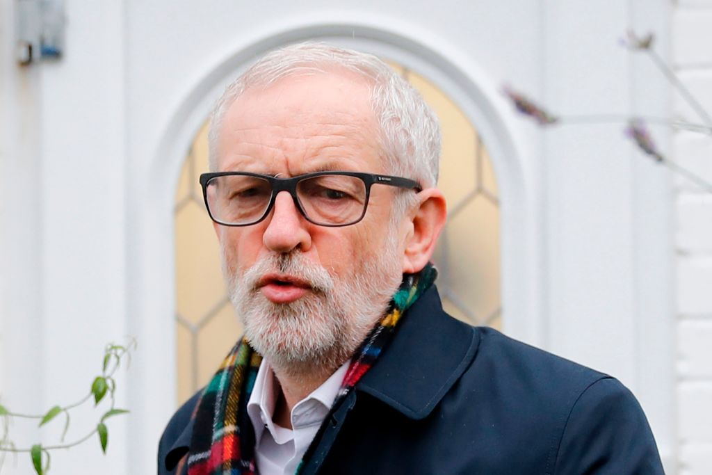 Britain's opposition Labour Party leader Jeremy Corbyn leaves his home in north London on December 17, 2019 for the first full day of the new parliament following the general election.